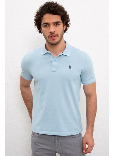 U.S. Polo Assn. U.s. Polo Assn. Polo Açık İndigo Erkek Tişört 954055 954055044 Mavi